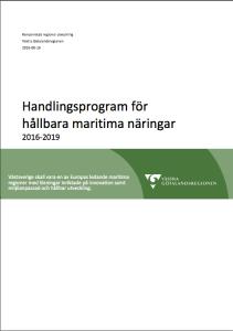 Handlingsplan för hållbara maritima näringar 2016-2019